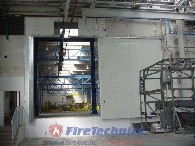 Противопожарные откатные ворота